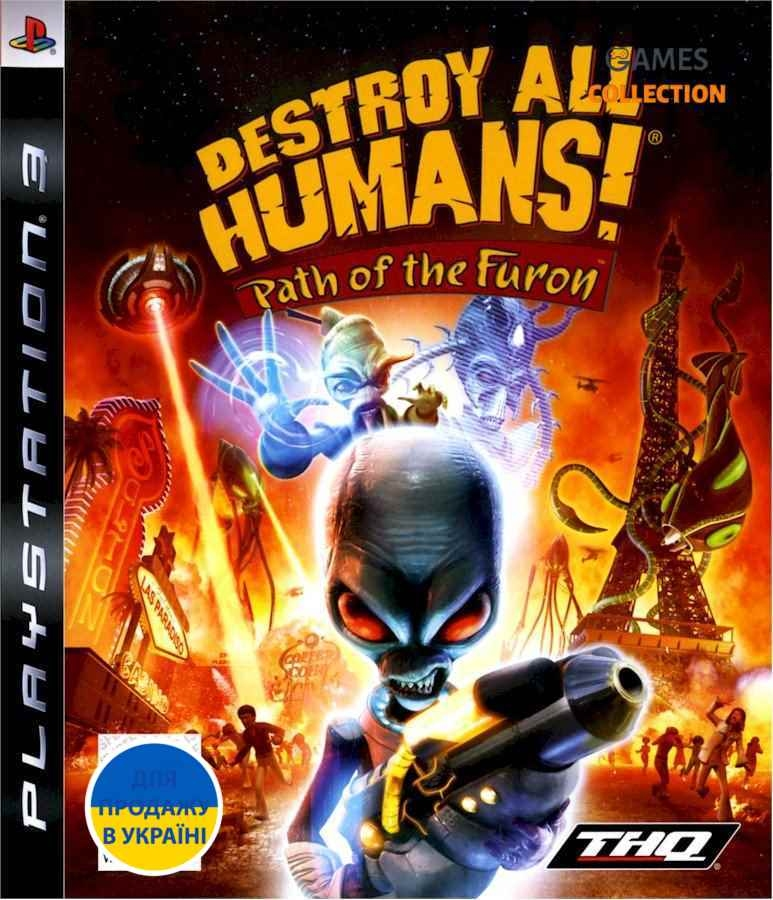 Destroy All Humans! Path of the Furon (PS3) Б/У-thumb