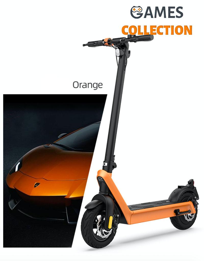 Электросамокат Hx X9 E -Scooter (оранжевый)-thumb