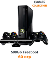 Xbox 360 Slim/E 500 Gb Freeboot 60 Игр+Kineсt+Джойстик-thumb