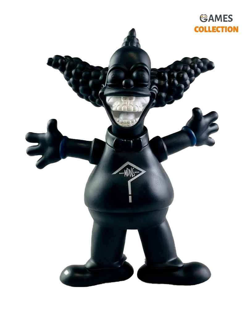 Kaws X Ron English Joker/Krusty Black (30cм)-thumb