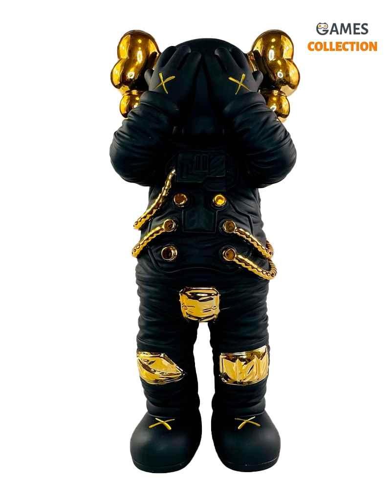 KAWS Holiday Space Figure Black/Gold (30см)-thumb