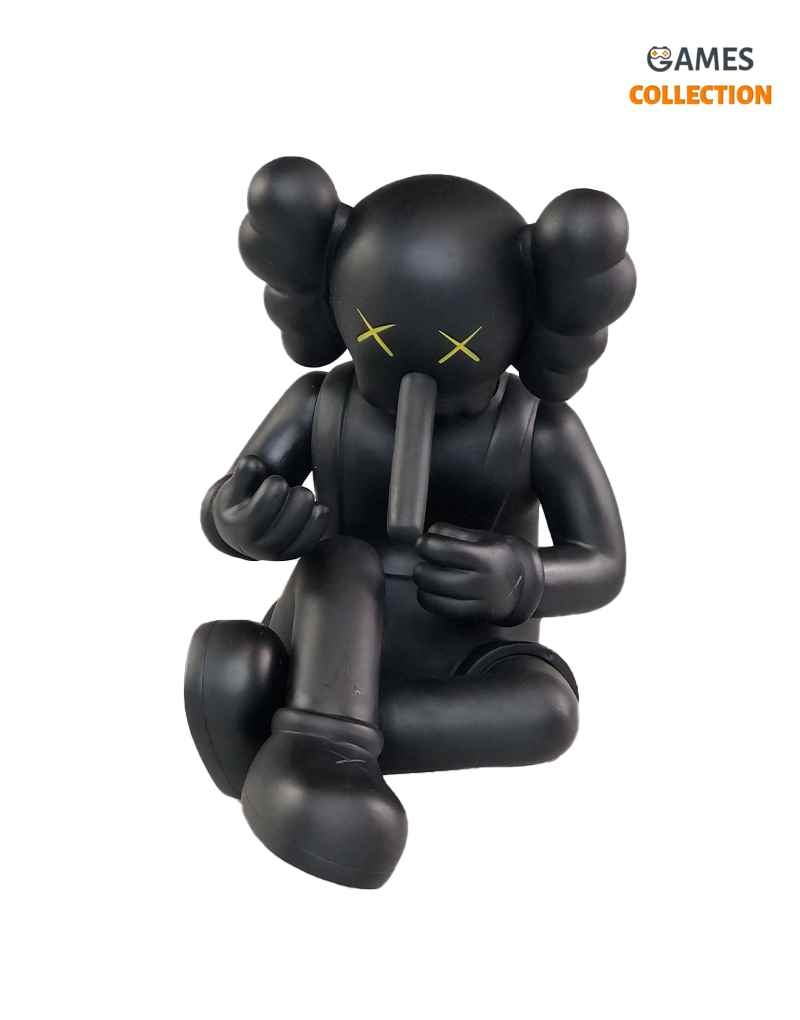 KAWS Companion Small Lie Black 20 см-thumb