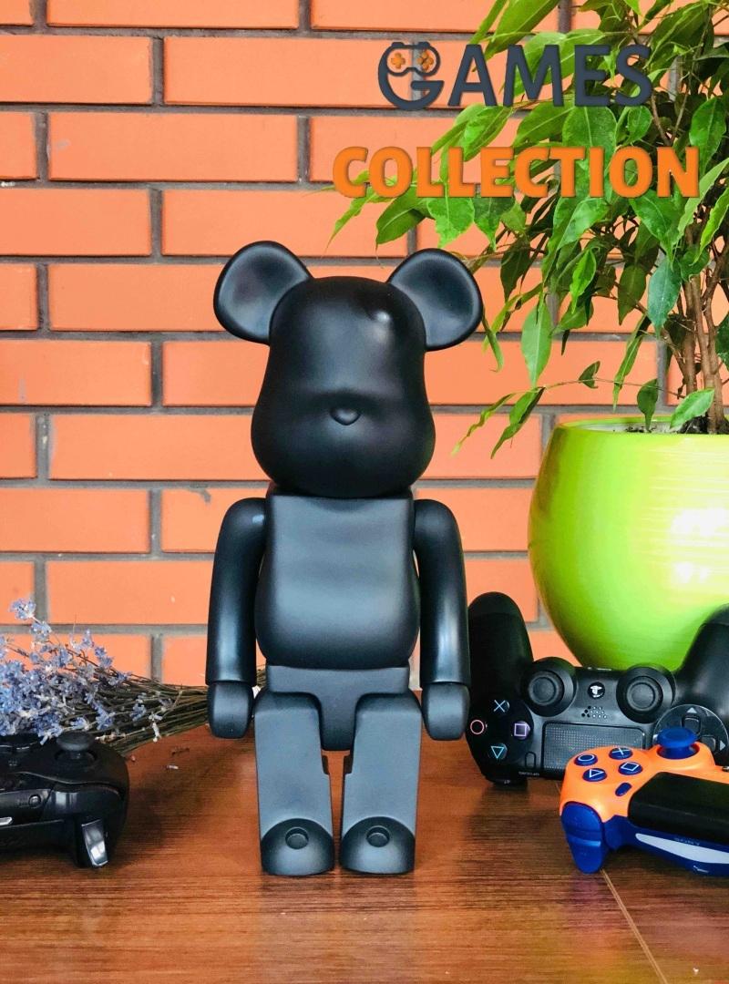 Bearbrick x Amirex Dry Carbon (Plain Weave) 400% (28 см) Black-thumb
