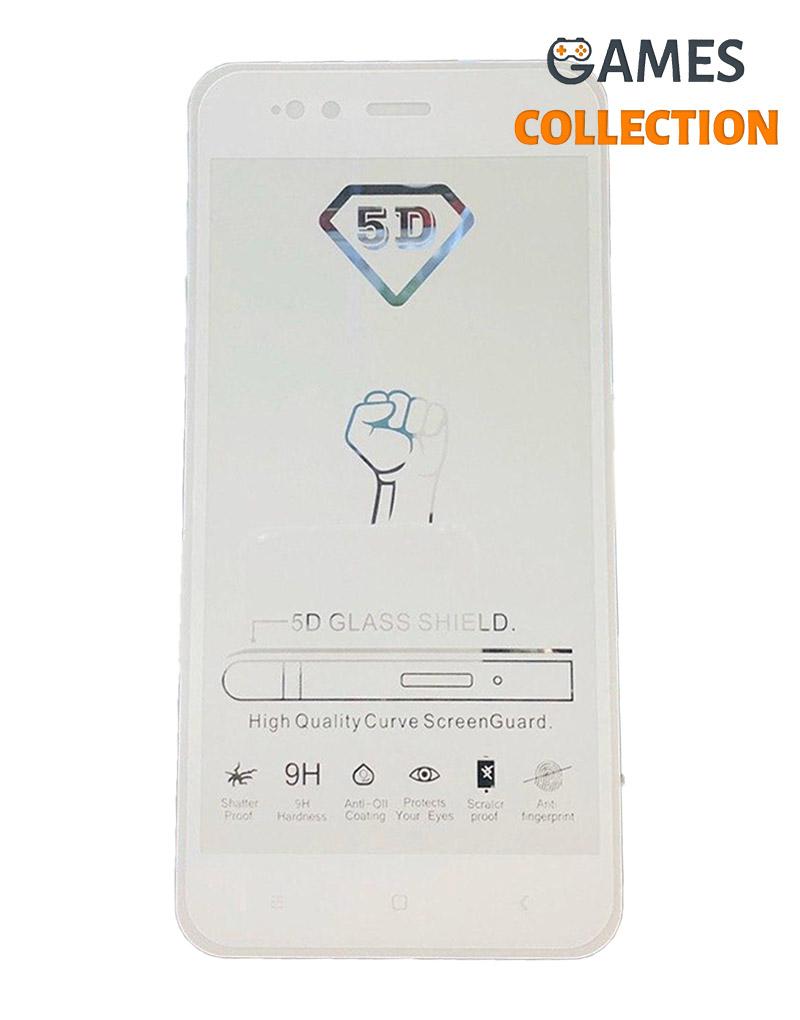Защитное стекло 5D для Xiaomi Redmi 5X/A1 (Белый)-thumb