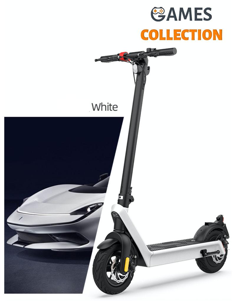 Электросамокат Hx X9 E -Scooter (белый)-thumb