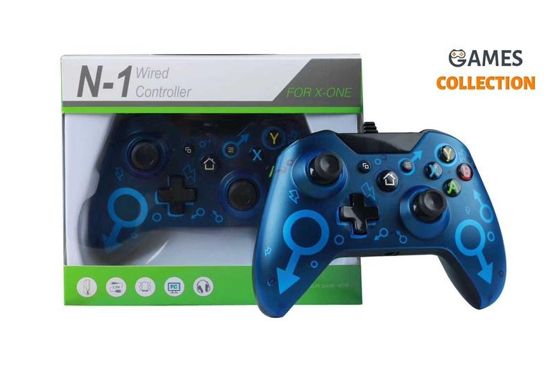 Проводной джойстик Xbox One Синий-thumb