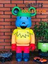 Bearbrick x Grateful Dead Dancing Bears 1000% (70см) Rainbow-thumb