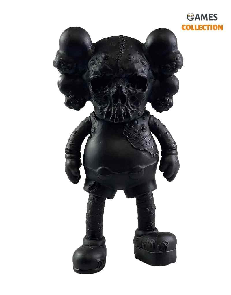 KAWS X PUSHEAD COMPANION Black (25см)-thumb