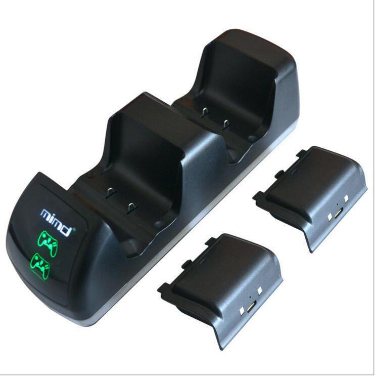 XBOX ONE X зарядное устройство с двумя гнездами со светодиодной панелью-thumb