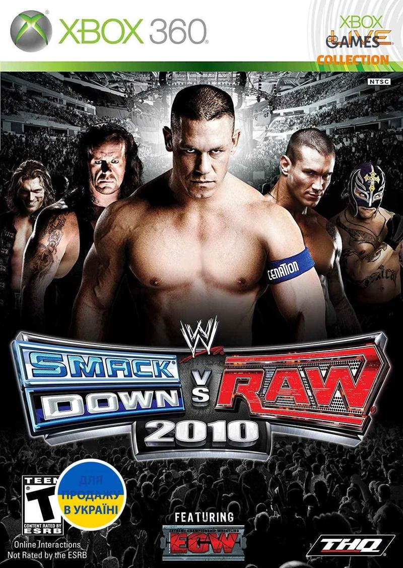 WWE Smackdown vs Raw 2010 (XBOX360) б/у-thumb