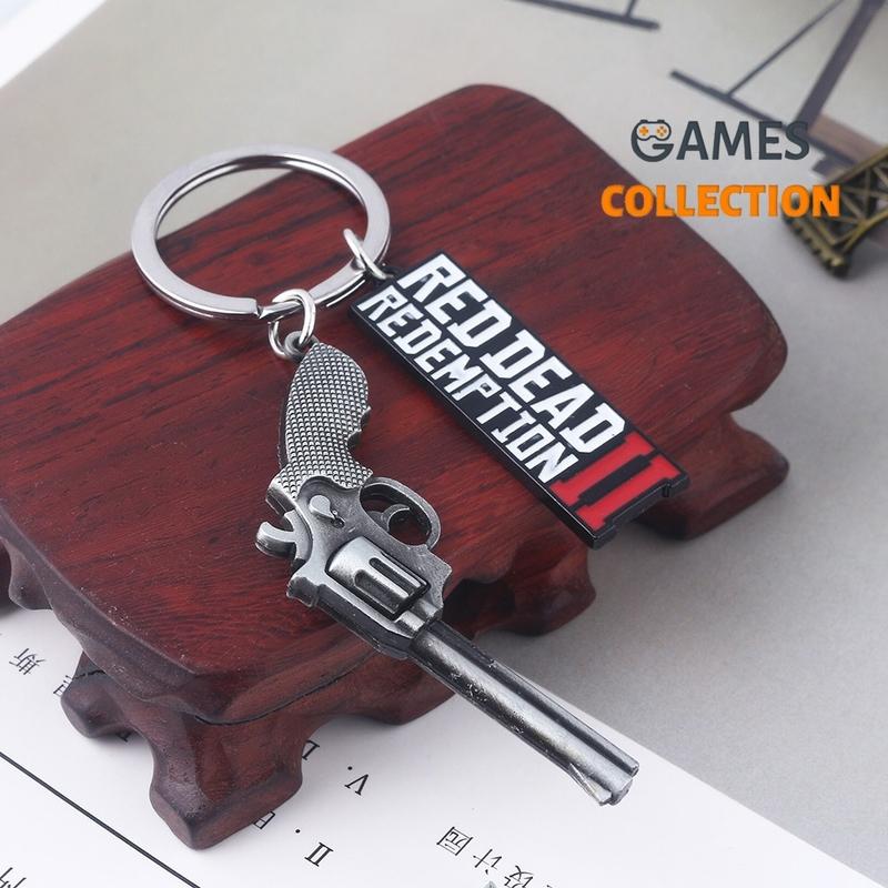 Red Dead Redemption 2 с пистолетом (Брелок)-thumb