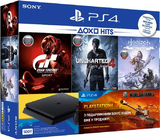 Sony PlayStation 4 slim 500gb + Uncharted 4 + Horizon zero dawn+ Gran turismo sport + ps plus 3 месяца-thumb