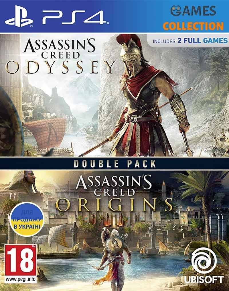 Assassin's Creed Origins + Odyssey Double Pack English version (PS4)-thumb