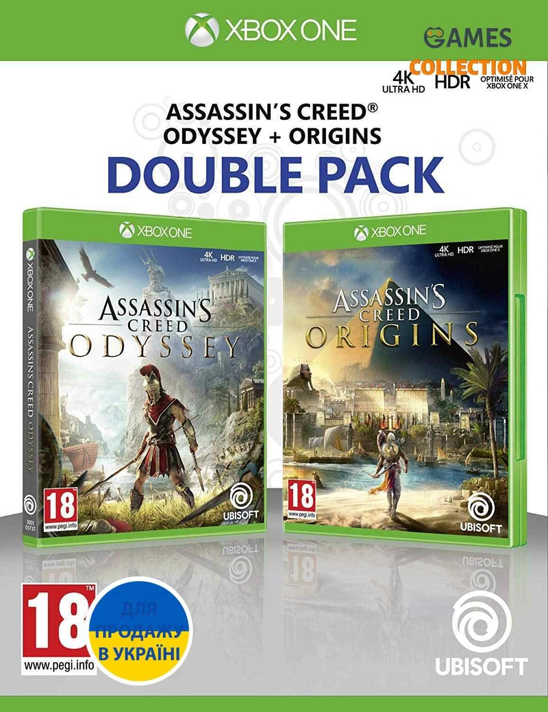 Assassins Creed Origins + Odyssey Double Pack (XBox One)-thumb