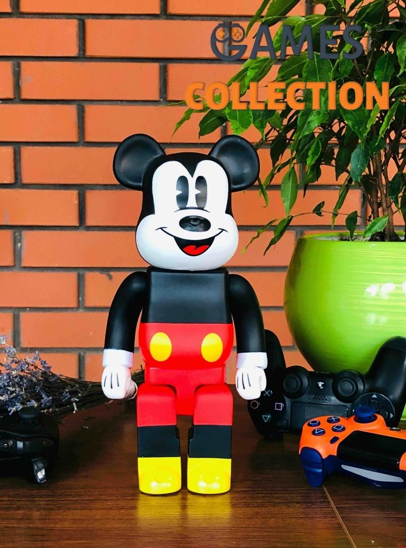Bearbrick Mickey Mouse 400% (28 см) Black-thumb