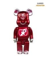 Bearbrick 520 Loving Bear Red 400% (28 см)-thumb