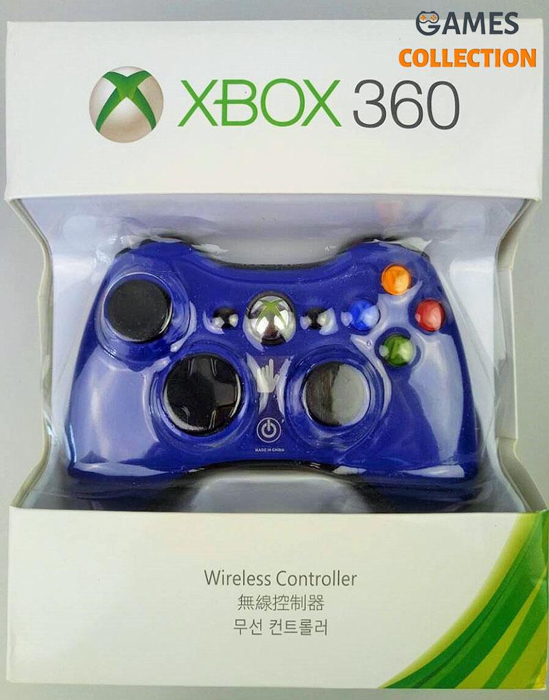 Универсальный беспроводной контроллер Синий (Xbox 360) Blue-thumb