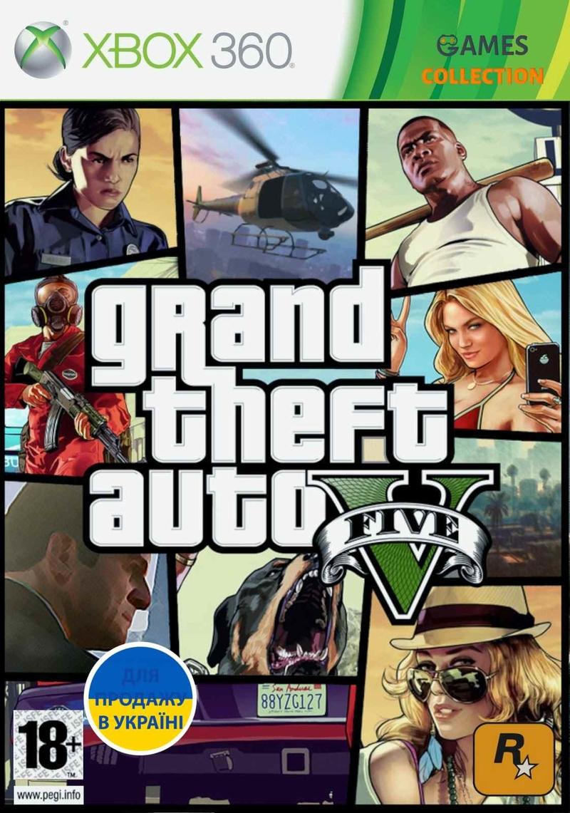 Grand Theft Auto V Лицензия (XBOX360) Б/У-thumb