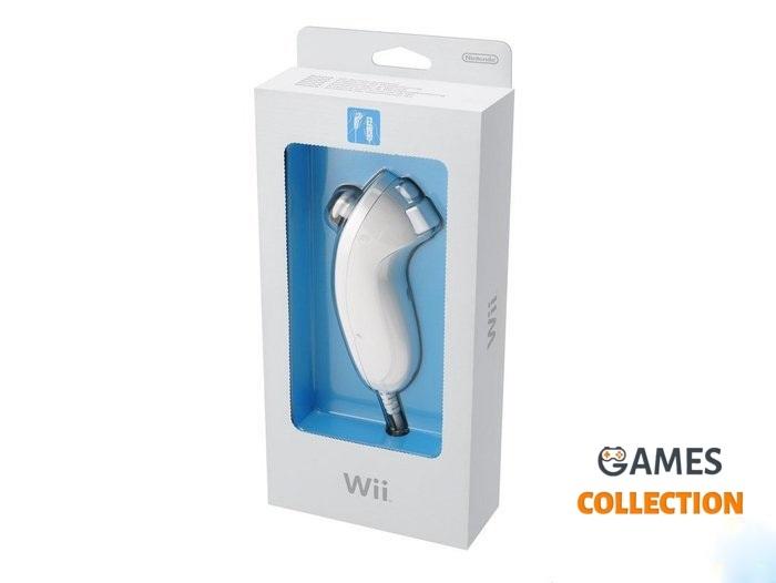 Wii Nunchuk Controller белый, чёрный-thumb