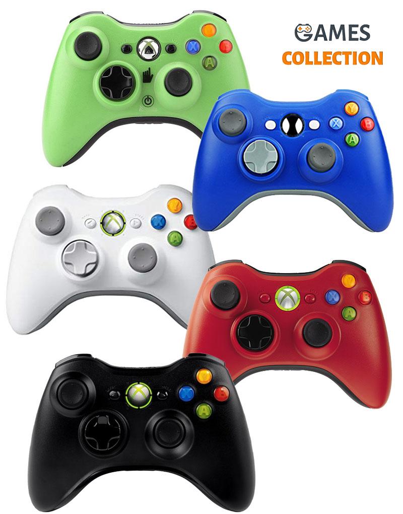 Джойстик беспроводной цветной (XBOX 360)-thumb