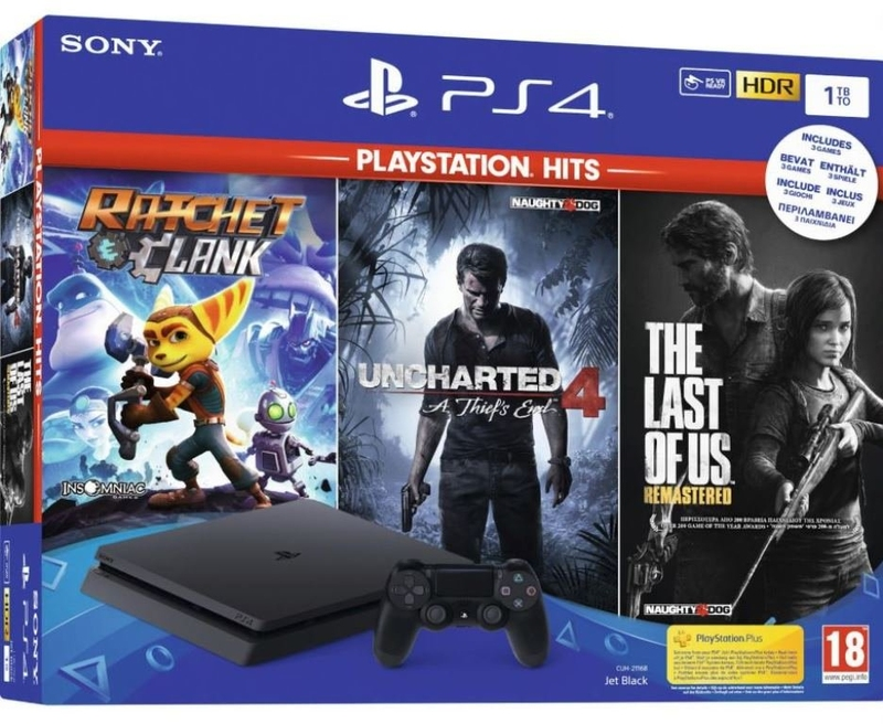 PS4 Slim 1TB Uncharted 4: A Thief's End + The Last of Us + Ratchet and Clank-thumb