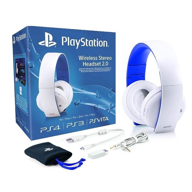 Wireless Headset (2.0) White (PS4)-thumb