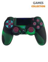 Черно-зеленый чехол контроллера (PS4)-thumb