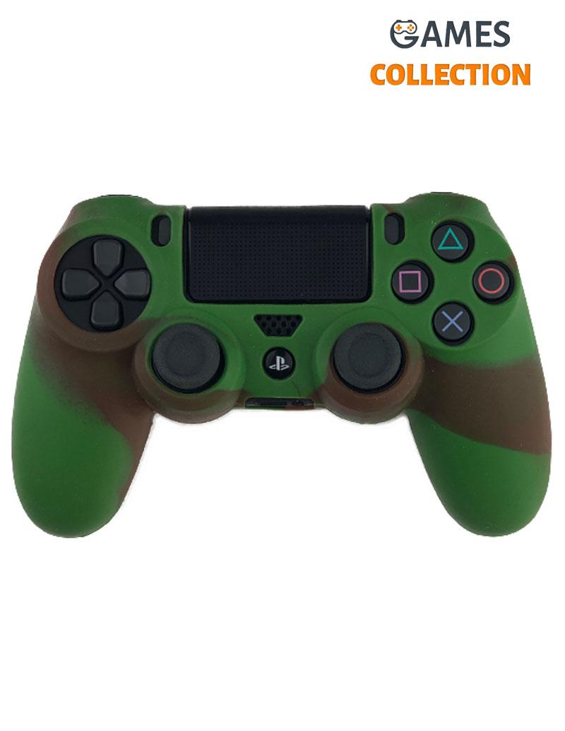 Коричнево зеленый чехол джойстик (PS4)-thumb