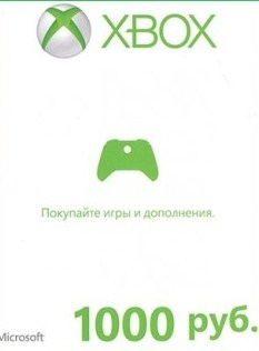 Xbox Live — карта оплаты 1000 рублей Россия-thumb