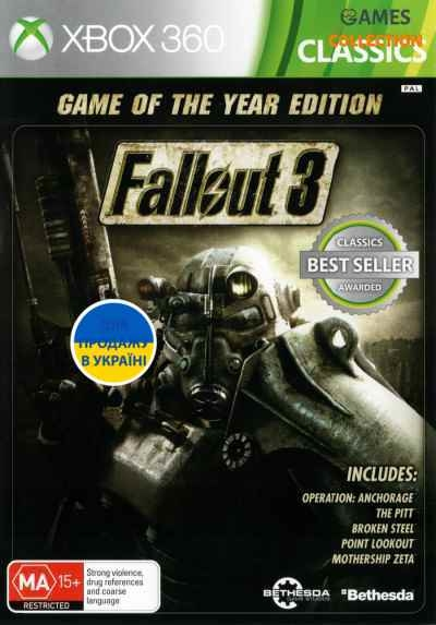Fallout 3 GOTY (XBox 360) Б/У-thumb