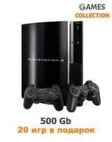 PS3 Fat Б.У 500 GB+20 игр+2 джойстика-thumb