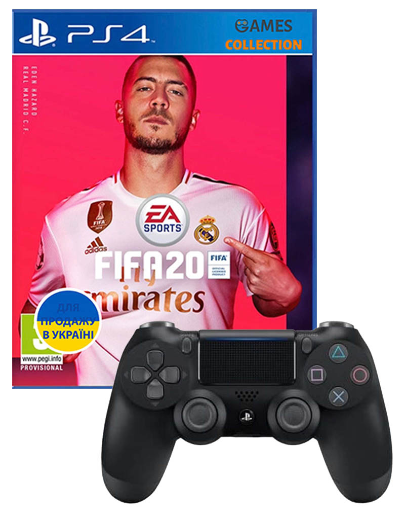 Fifa 20 + DUAL SHOCK 4 V2 BLACK (PS4)-thumb