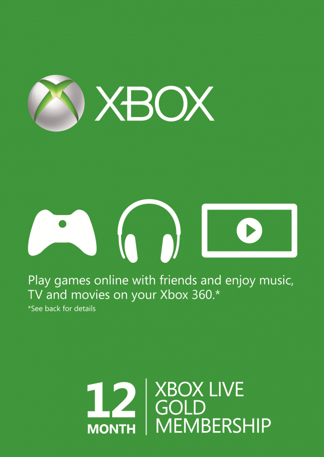 Xbox Live GOLD Статус 12 месяцев-thumb