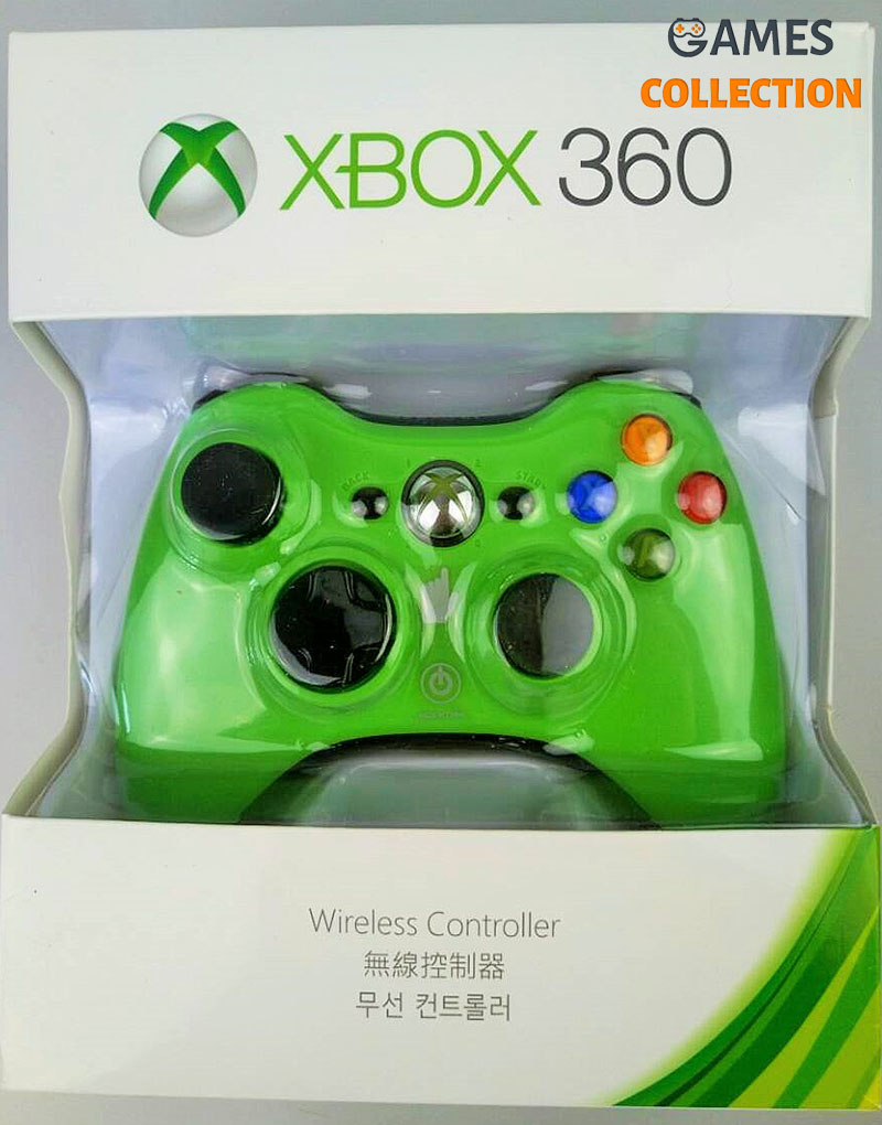 Универсальный беспроводной контроллер зеленый (Xbox 360) Green-thumb