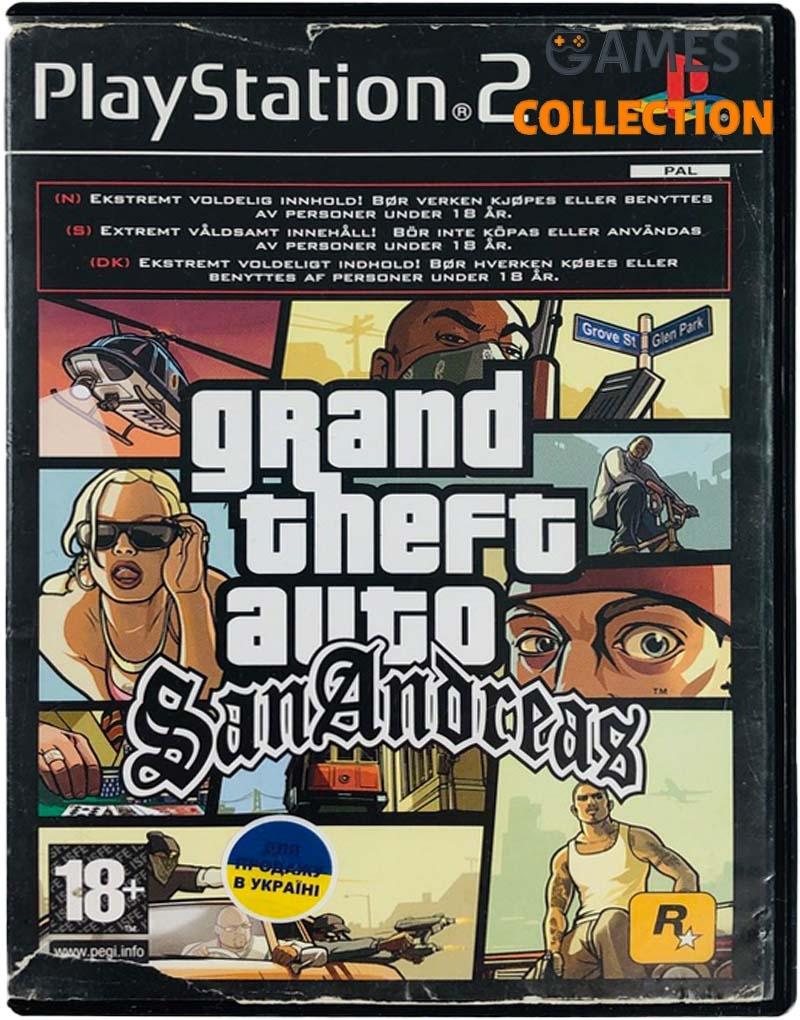 Grand Theft Auto: San Andreas (PS2) Б/У-thumb