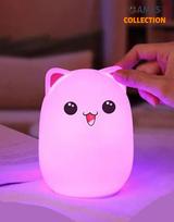 Bud Bear Silicone Lamp: Котик Розовые ушки (Светильник)-thumb
