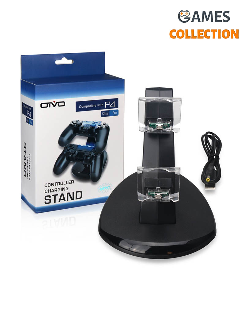 OIVO Dual Charging Dock for PS4 Controller Charger With Usb Cable-thumb