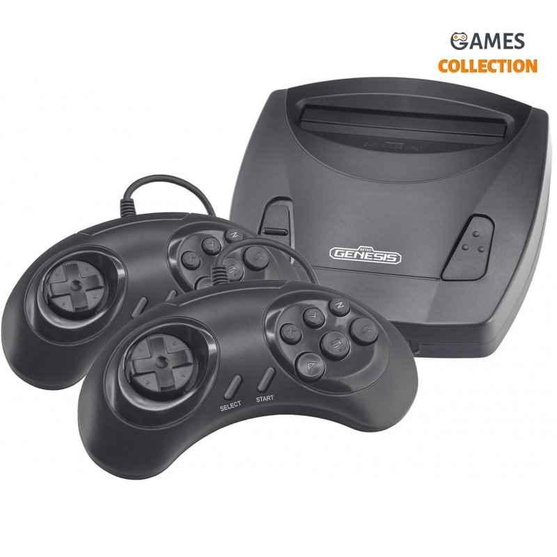 Игровая консоль Retro Genesis 8 Bit Junior (300 игр, 2 проводных джойстика, AV кабель)-thumb