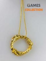 Дракон старинные свитки Скайрим золотой (кулон с цепочкой)-thumb