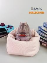 Гиппопотам на подушке (фигурка)-thumb