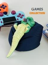 Крокодил на подушке (фигурка)-thumb