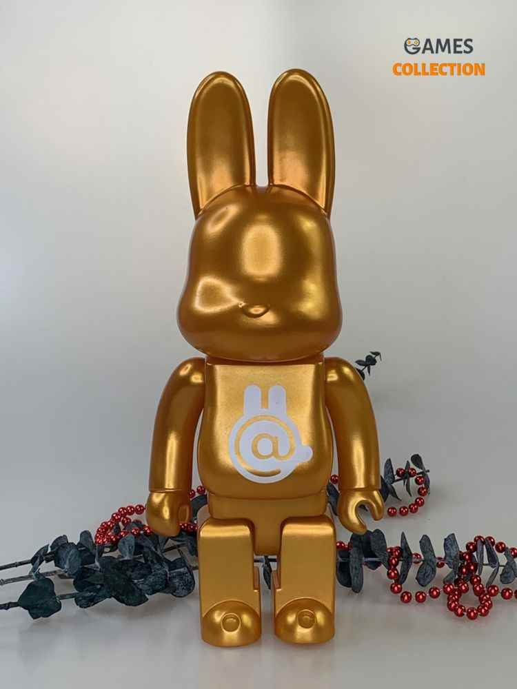 BEARBRICK Rabbit Gold 400% (28cm)-thumb