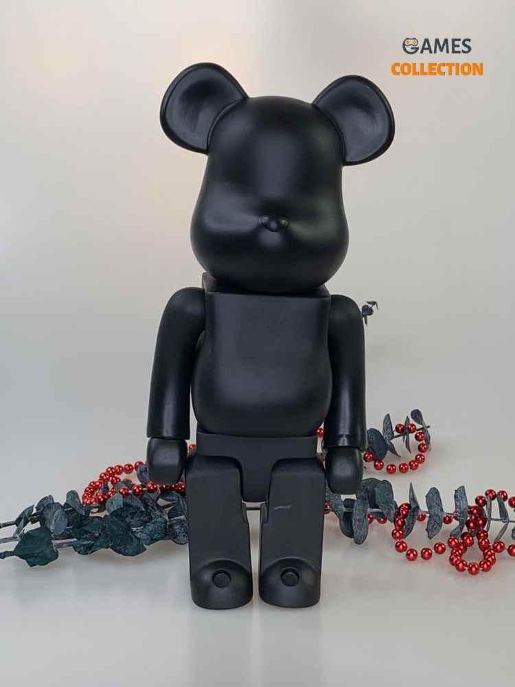 BEARBRICK Black 400% (28cm)-thumb