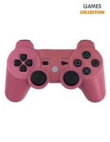 Розовый беспроводной джойстик (PS3)-thumb