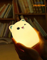 Bud bear silicone Lamp Котик Синие ушки (Светильник)-thumb