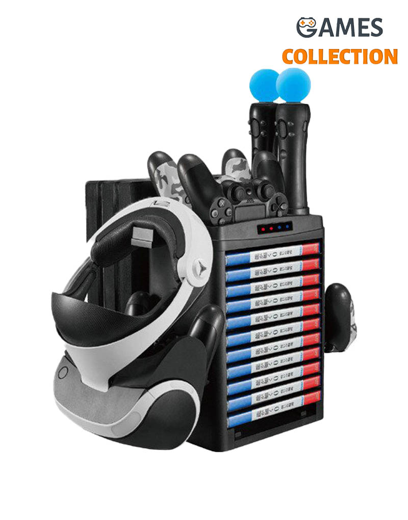 Multifunction Vertical Stand For PS4 Slim/Pro/PSVR/PSVR2 (KJH-PS4-020)-thumb