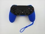 Силиконовый чехол для джойстика PS4 с ремешком(Синий)-thumb