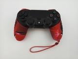 Силиконовый чехол для джойстика PS4 с ремешком(черно красный)-thumb