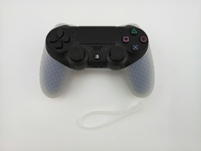 Силиконовый чехол для джойстика PS4 с ремешком(прозрачный)-thumb