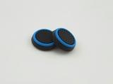 PS4/XOne/PS2/PS3/X360 накладки на ручки аналогов (черно-синие)-thumb